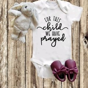 Prayer onsie. Super adorable Great for baptism day